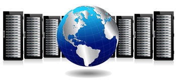 Data Storage System - Internet Network Servers Royalty Free Stock Photo
