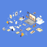 Data Storage and Technology Isometric Vector Royalty Free Stock Photography
