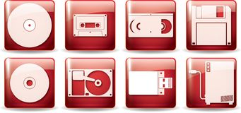 Data store devices set 2 Royalty Free Stock Image