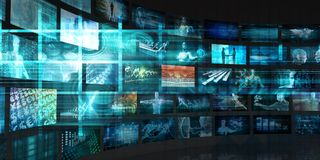 Data Stream. Of Internet Digital Information Moving Stock Photo