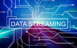 Data Streaming Technology Information Transfer Concept Stock Images