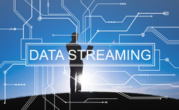 Data Streaming Technology Information Transfer Concept. Data Streaming Technology Information Transfer royalty free stock photos