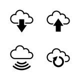 Data synchronisation. Simple Related Vector Icons royalty free illustration