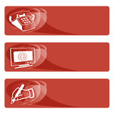 Data tags red Stock Image