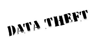 Data Theft rubber stamp. Grunge design with dust scratches. Effects can be easily removed for a clean, crisp look. Color is easily changed Royalty Free Stock Images