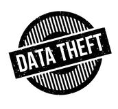 Data Theft rubber stamp. Grunge design with dust scratches. Effects can be easily removed for a clean, crisp look. Color is easily changed Stock Images