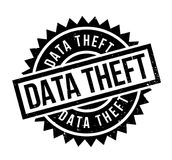 Data Theft rubber stamp. Grunge design with dust scratches. Effects can be easily removed for a clean, crisp look. Color is easily changed Royalty Free Stock Photography
