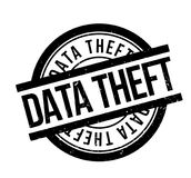 Data Theft rubber stamp. Grunge design with dust scratches. Effects can be easily removed for a clean, crisp look. Color is easily changed Royalty Free Stock Photo