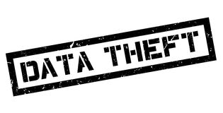 Data Theft rubber stamp Stock Photography