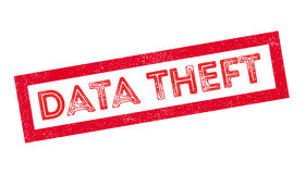 Data Theft rubber stamp Stock Image