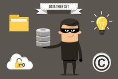 Data thief character Stock Photos