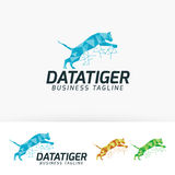 Data Tiger vector logo design Stock Images