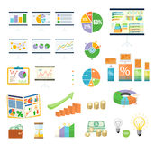 Data Tools Finance Diagramm and Graphic Royalty Free Stock Images