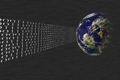 Data tranfer, mail. Data transfer over the internet Stock Image