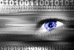 Data transfer. Digital eye in a future vision Stock Photography