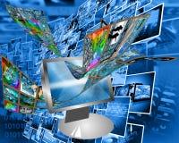 Data transfer Stock Photo