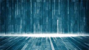 Data transfer , binary code run on screen
