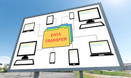 Data transfer concept on a billboard Royalty Free Stock Photo