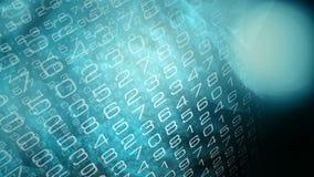 Data transfer encryption, creative tech symbol animation stock illustration