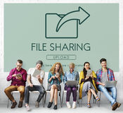 Data Transfer Exchange Sharing Sync Upload Concept Royalty Free Stock Images