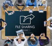 Data Transfer Exchange Sharing Sync Upload Concept. Data Transfer Exchange Sharing Sync Upload Royalty Free Stock Images