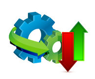 Data Transfer and Gears royalty free illustration