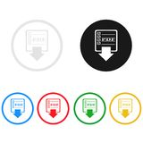 Data transfer icon,sing,illustration Royalty Free Stock Photo