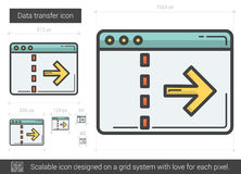 Data transfer line icon. Royalty Free Stock Images