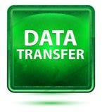 Data Transfer Neon Light Green Square Button stock illustration