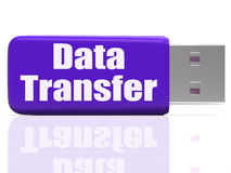 Data Transfer Pen drive Shows Data Storage Or Stock Images