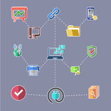 Data transfer and web security technology concept Stock Photos