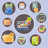 Data transfer and web security technology concept Royalty Free Stock Images
