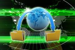 Data transfering Stock Photo