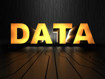 Data - uninterpreted information Royalty Free Stock Image