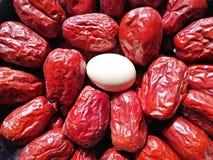 Data vermelha - fruto do jujuba - grande como o ovo fotos de stock royalty free