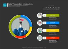 Data visualizatio infographic template, With some simple steps or options to help you design for your business. Stock Photos