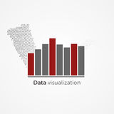 Data visualization concept. Data visualization graphic concept. Vector illustration of data flow, converted to visual chart. Infographics element Stock Photo