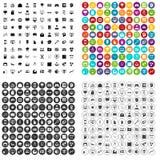 100 data visualization icons set vector variant. 100 data visualization icons set vector in 4 variant for any web design isolated on white Royalty Free Stock Photos
