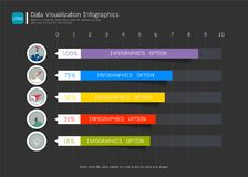 Data visualization infographic template, With some simple steps or options to help you design for your business. Stock Photo