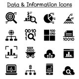Data warehouse, data mining, Big data icons Stock Photos