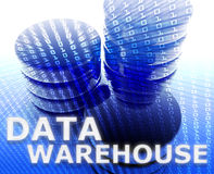 Data warehouse illustration Royalty Free Stock Photos