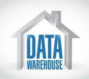 Data warehouse illustration design Royalty Free Stock Photos