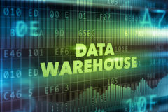 Data warehouse technology concept Stock Images