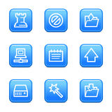 Data web icons Royalty Free Stock Photography
