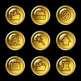Data web icons Royalty Free Stock Photography