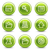 Data web icons Stock Photos