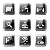 Data web icons, glossy buttons series Royalty Free Stock Photos