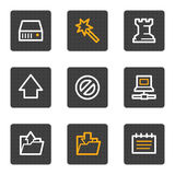 Data web icons, grey buttons series Royalty Free Stock Photos