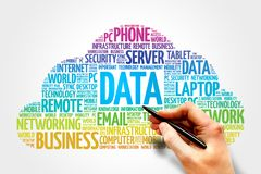 Data word cloud Royalty Free Stock Photography