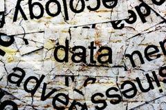 Data word cloud Royalty Free Stock Photo